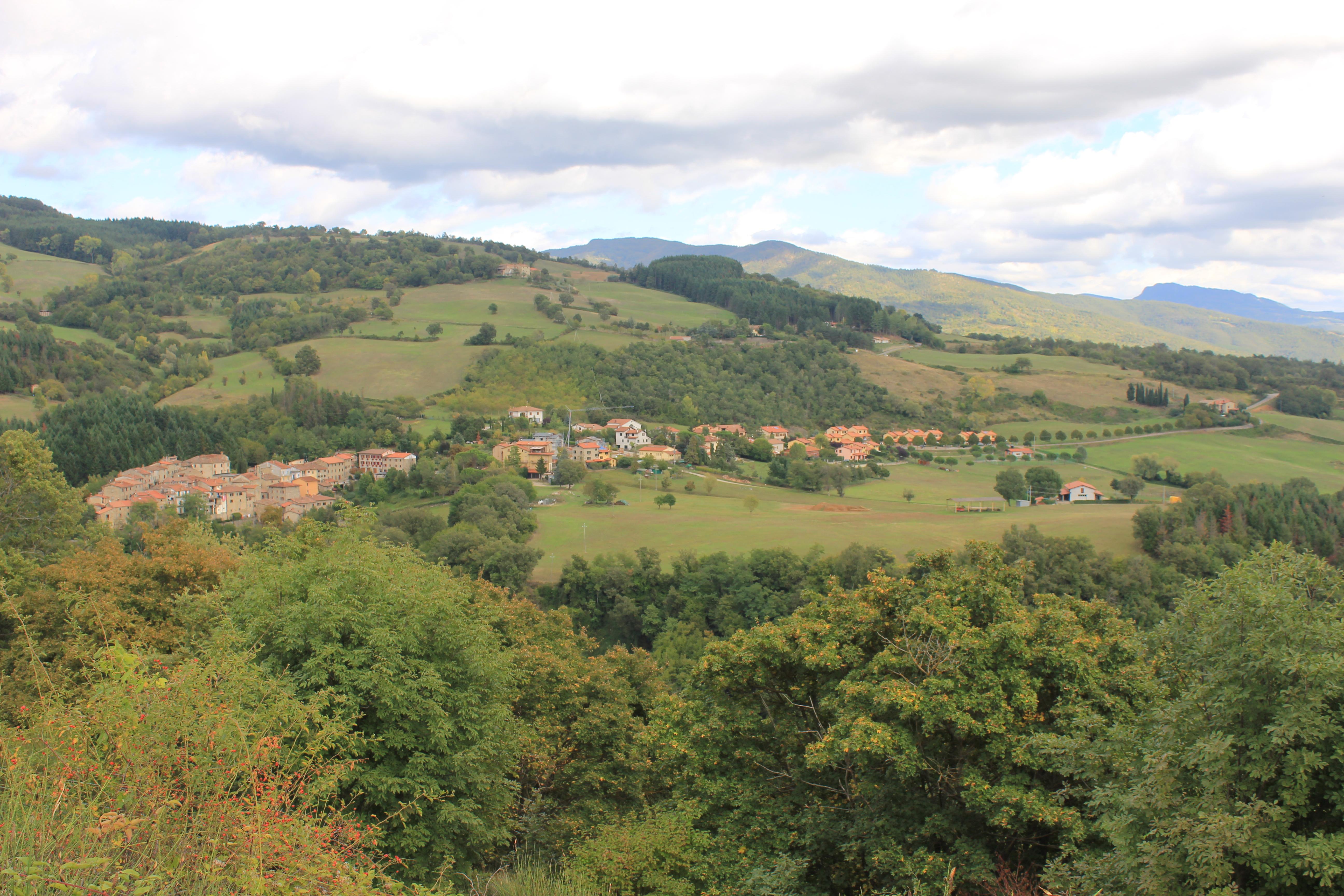 Lierna vista dalla strada che porta a Camaldoli