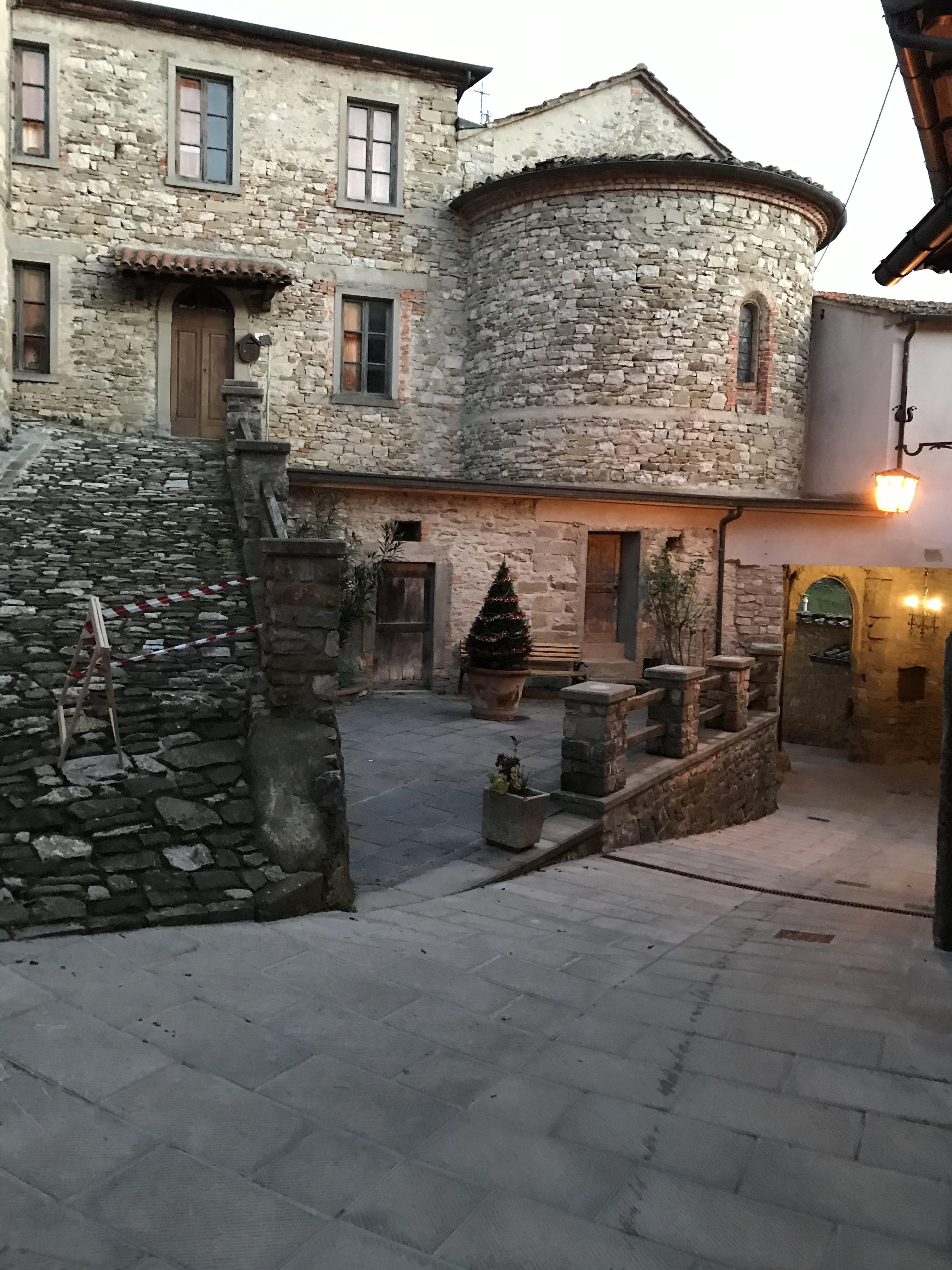 Tramonto sul borgo di Lierna